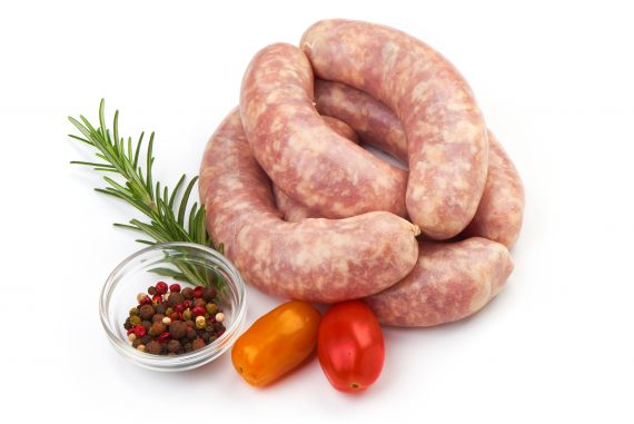 Fresh,Sausages,,Spiral,Sausages,With,Herbs,And,Spices,,Isolated,On